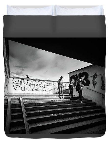 The Underpass Duvet Cover by John Williams