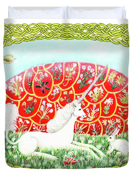 The Unicorn And The Egg Duvet Cover