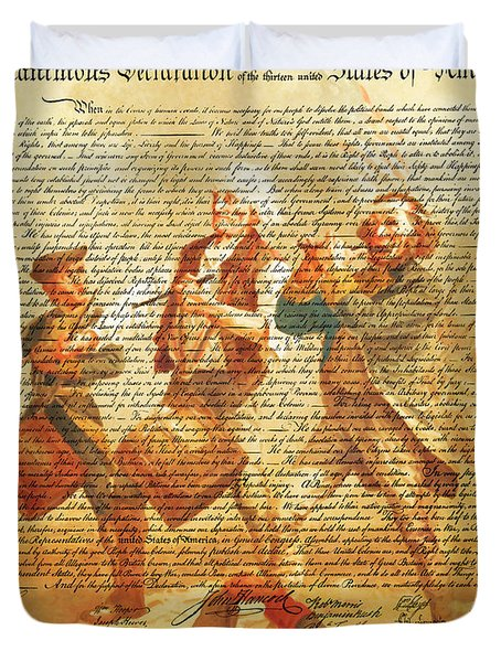 The United States Declaration Of Independence And The Spirit Of 76 20150704v2 Duvet Cover