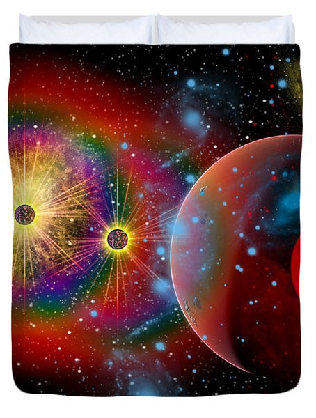 The Universe In A Perpetual State Duvet Cover