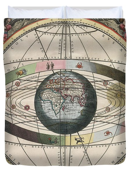 The Universe Of Ptolemy Harmonia Duvet Cover by Science Source