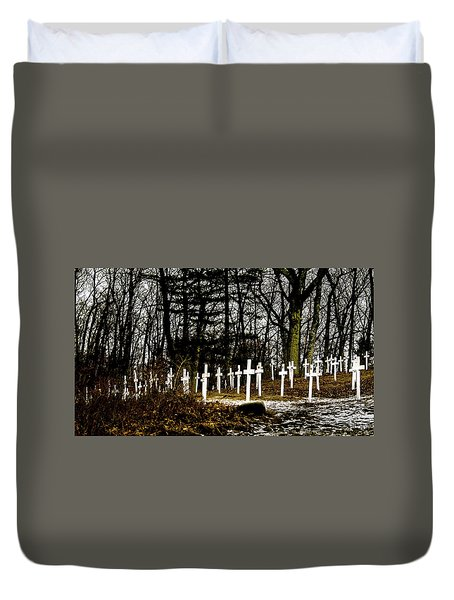 Duvet Cover featuring the photograph The Unknown by Onyonet  Photo Studios