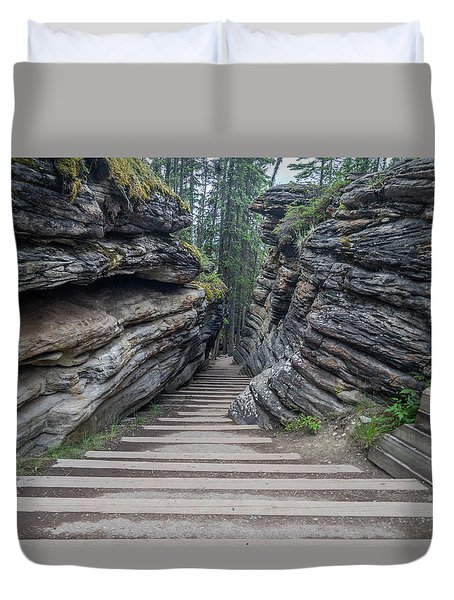 The Unknown Path Duvet Cover by Alpha Wanderlust
