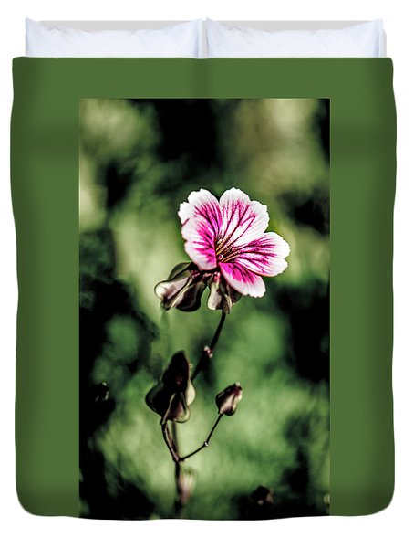 Duvet Cover featuring the photograph The Unknown Weed by Onyonet  Photo Studios
