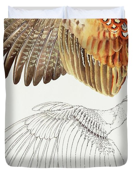 The Upper Side Of The Pheasant Wing Duvet Cover