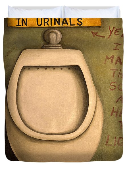 The Urinal Duvet Cover by Leah Saulnier The Painting Maniac