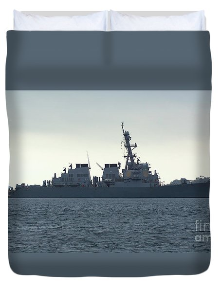 The Uss Ramage Duvet Cover