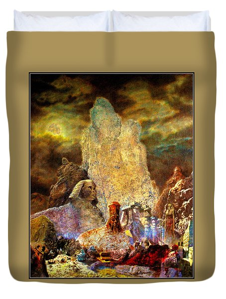 The Valley Of Sphinks Duvet Cover