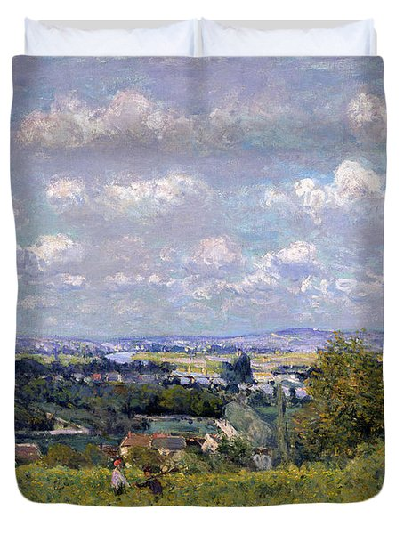 The Valley Of The Seine At Saint Cloud Duvet Cover by Alfred Sisley
