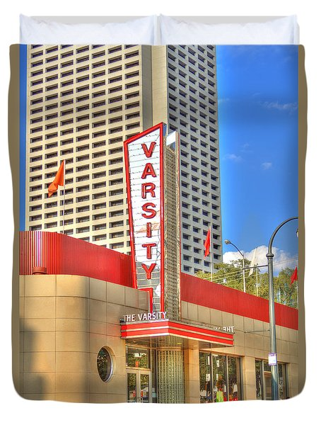 The Varsity Frontdoor Atlanta Georgia Landmark Art Duvet Cover