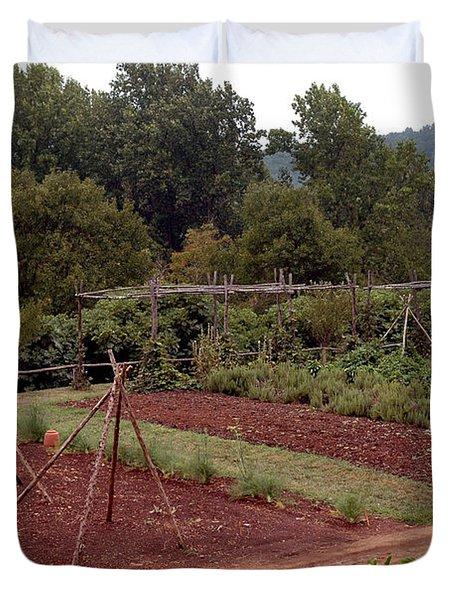 The Vegetable Garden At Monticello II Duvet Cover by LeeAnn McLaneGoetz McLaneGoetzStudioLLCcom