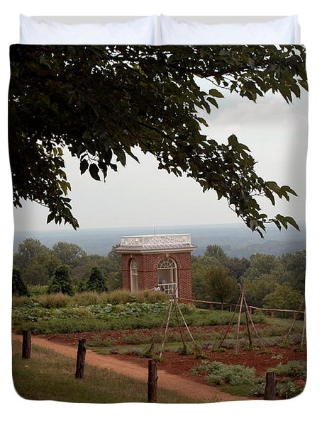 The Vegetable Garden At Monticello Duvet Cover