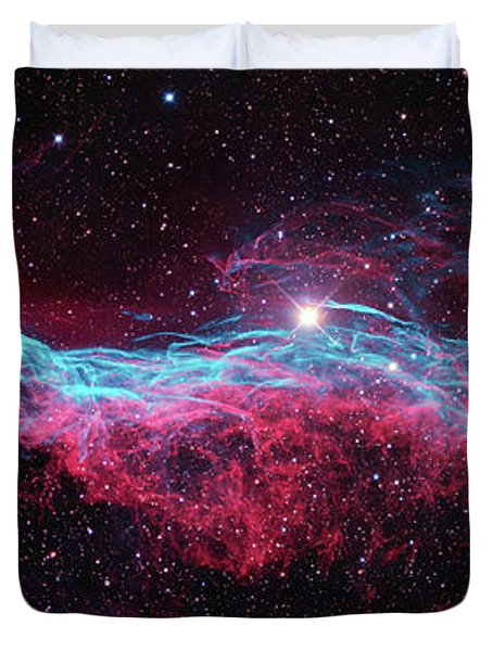 Duvet Cover featuring the photograph The Veil Nebula by Nasa