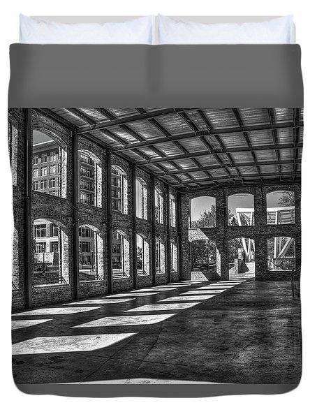 The Venue Bw Old Mill Wedding Venue Reedy River South Caroline Art Duvet Cover