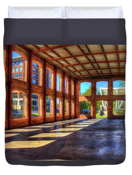 The Venue Old Mill Wedding Venue Reedy River South Caroline Art Duvet Cover by Reid Callaway