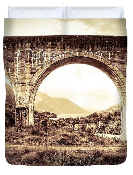 The Viaduct And The Loch Duvet Cover