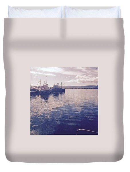 Stromness Harbour Duvet Cover