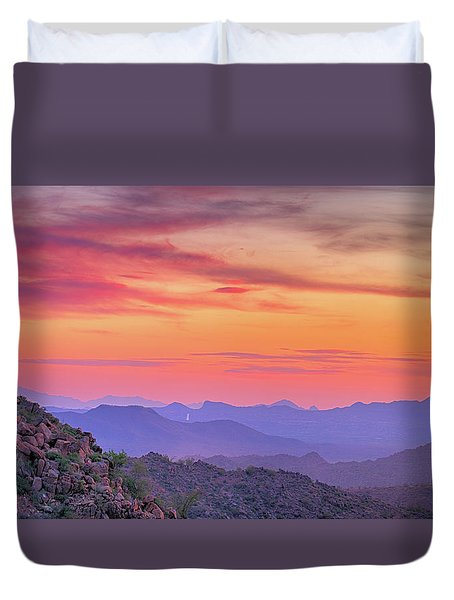 Duvet Cover featuring the photograph The View From Above by Anthony Citro