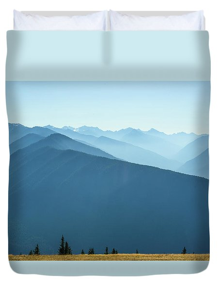 The View From Hurricane Ridge Duvet Cover