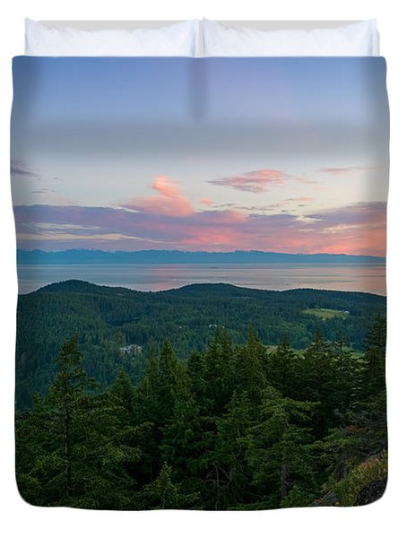 The View From Mt Erie Duvet Cover