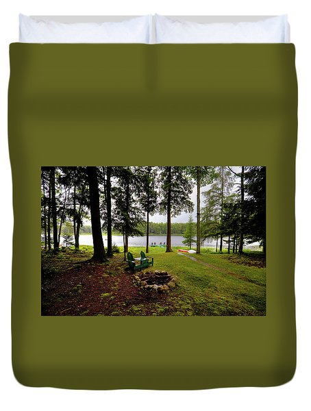 Duvet Cover featuring the photograph The View From Northern Comfort by David Patterson