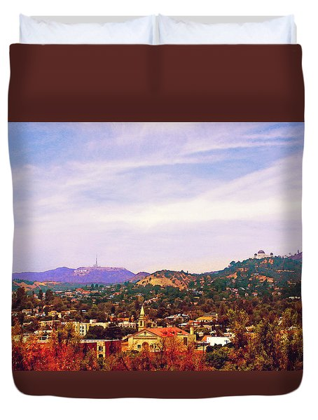 The View From Olive Hill Duvet Cover
