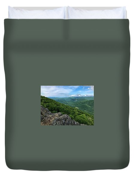 Duvet Cover featuring the photograph The View From Raven's Roost by Lori Coleman