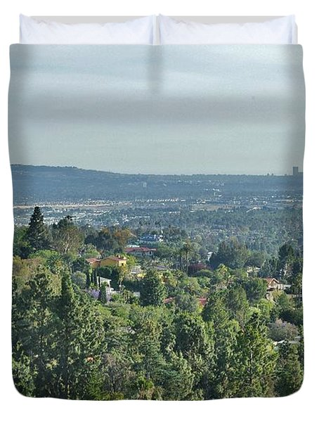 The View From The Hills Above Tustin California Duvet Cover