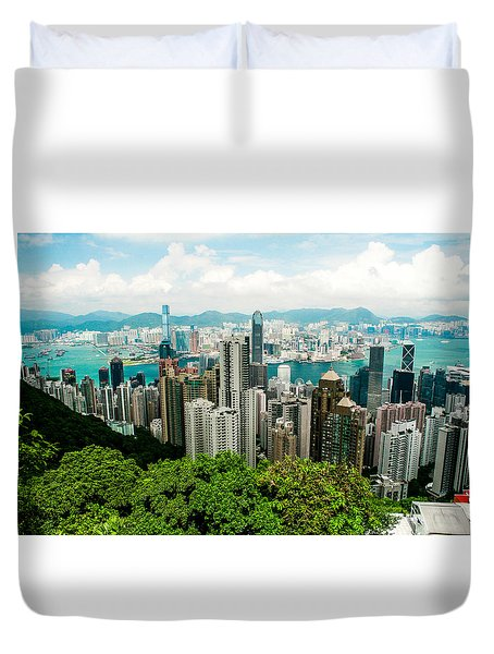 The View From The Peak Duvet Cover