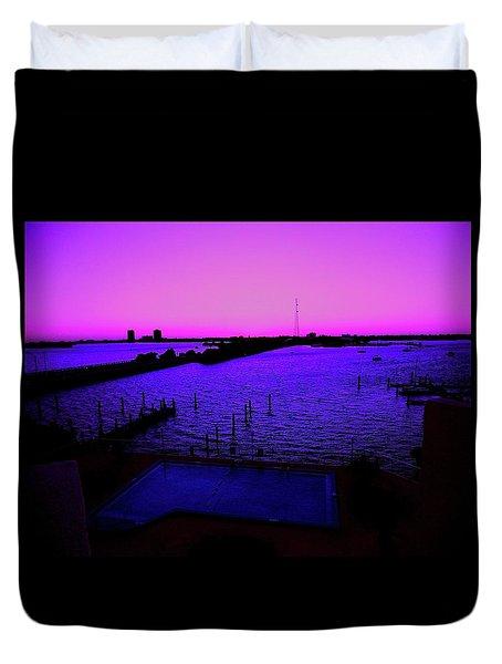 The Purple View  Duvet Cover