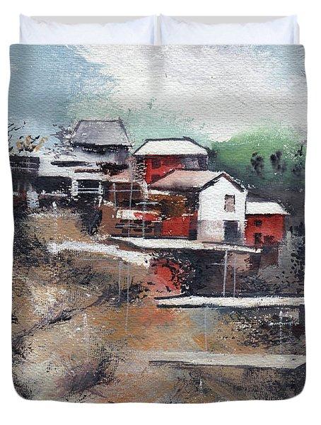 The Village Duvet Cover