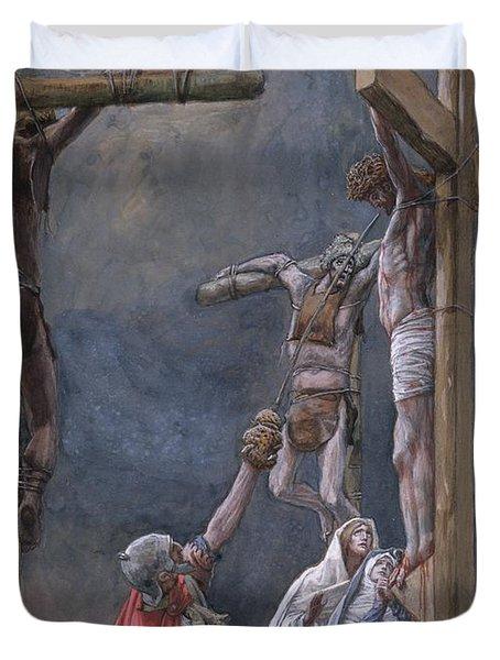 The Vinegar Given To Jesus Duvet Cover