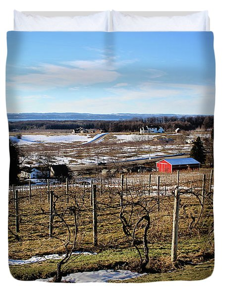 The Vineyard On Old Mission Duvet Cover