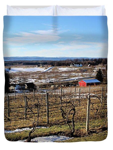 The Vineyard On Old Mission Duvet Cover
