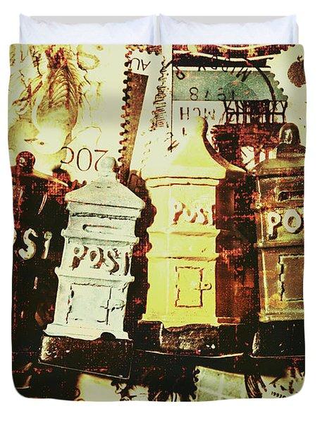 The Vintage Postage Card Duvet Cover