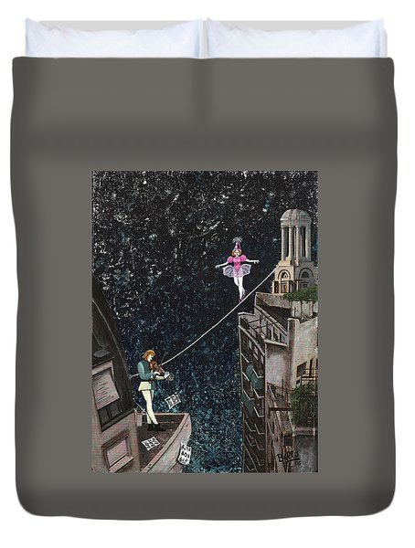 The Violinist And The Dancer Duvet Cover