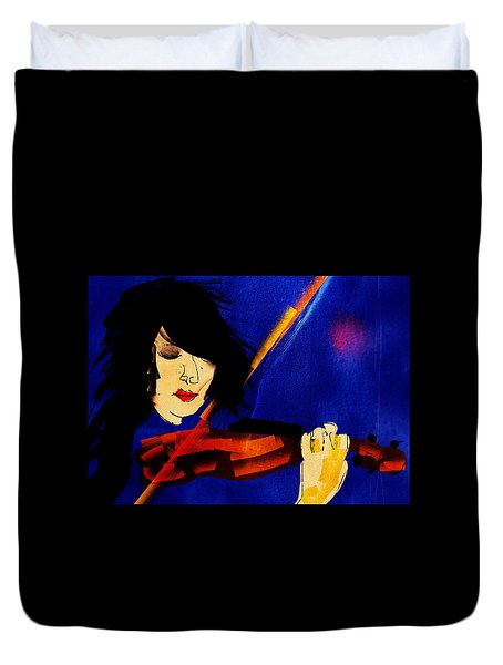 The Violinist Duvet Cover