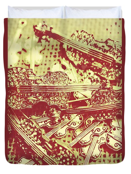 The Violinist Playwright Duvet Cover