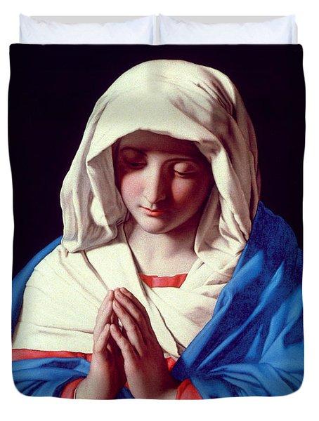 The Virgin In Prayer Duvet Cover by Il Sassoferrato