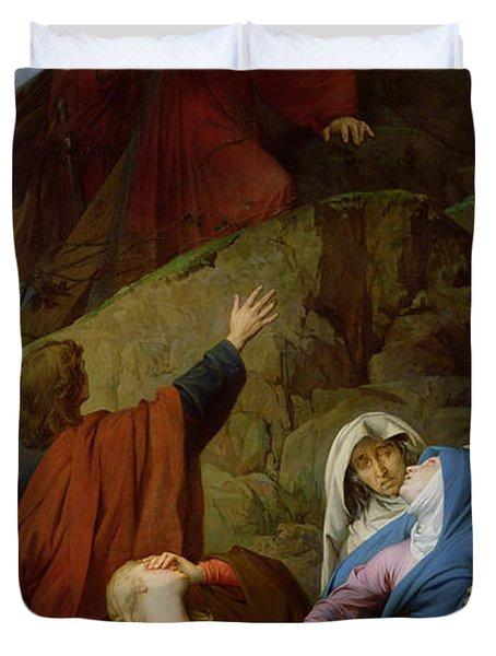 The Virgin Of Calvary Duvet Cover by Jules Eugene Lenepveu