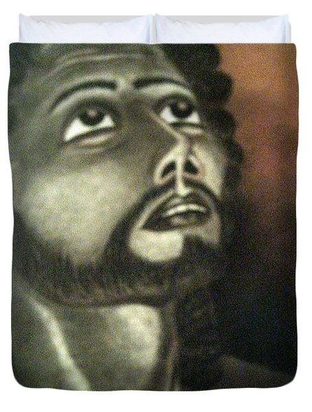The Vision Of St. Christopher Duvet Cover