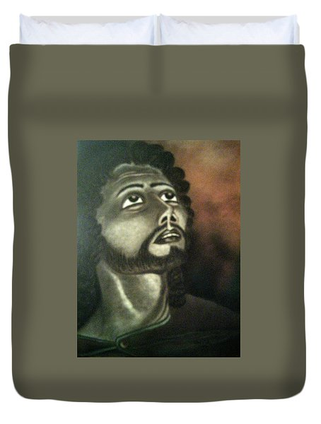The Vision Of St. Christopher Duvet Cover