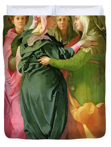 The Visitation Duvet Cover by Jacopo Pontormo