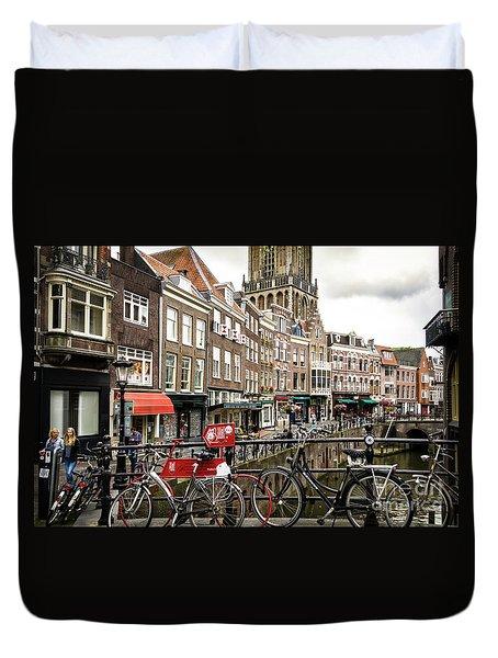 Duvet Cover featuring the photograph The Vismarkt In Utrecht by RicardMN Photography