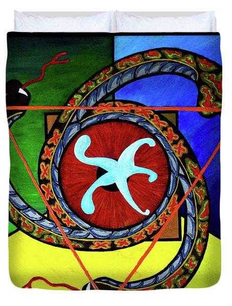 The Vitruvian Serpent Duvet Cover