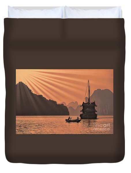 The Voyage Ha Long Bay Vietnam  Duvet Cover
