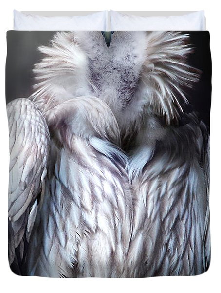Duvet Cover featuring the photograph The Vulture by Christine Sponchia
