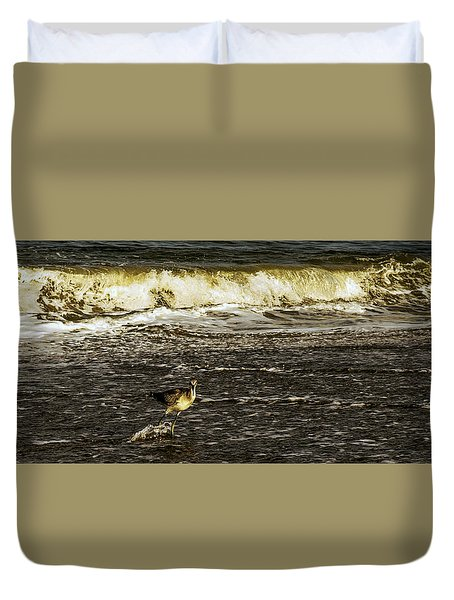 The Wading Willet  Duvet Cover
