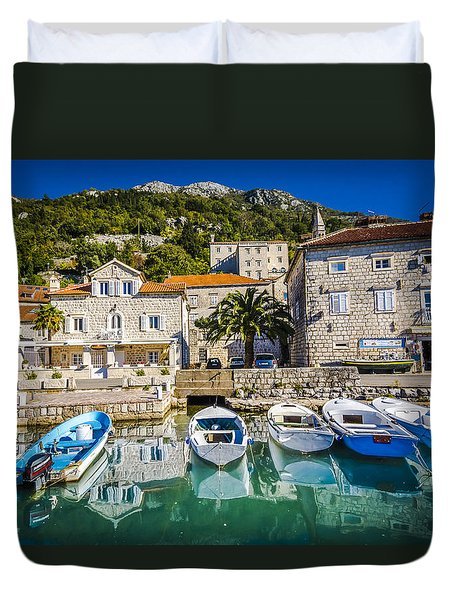 The Waiting Boats Duvet Cover