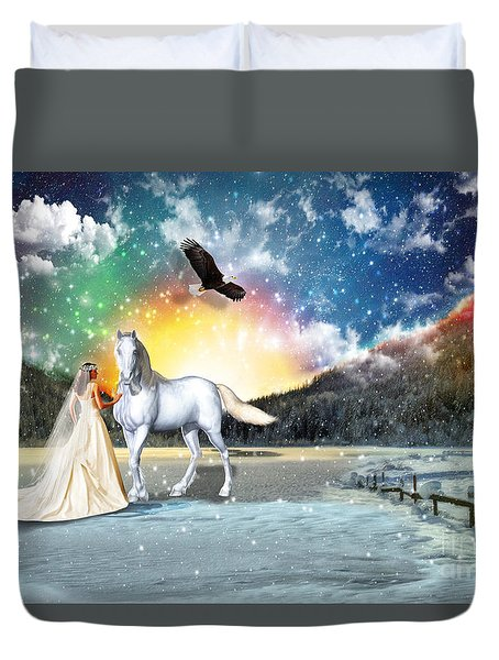 The Waiting Bride Duvet Cover